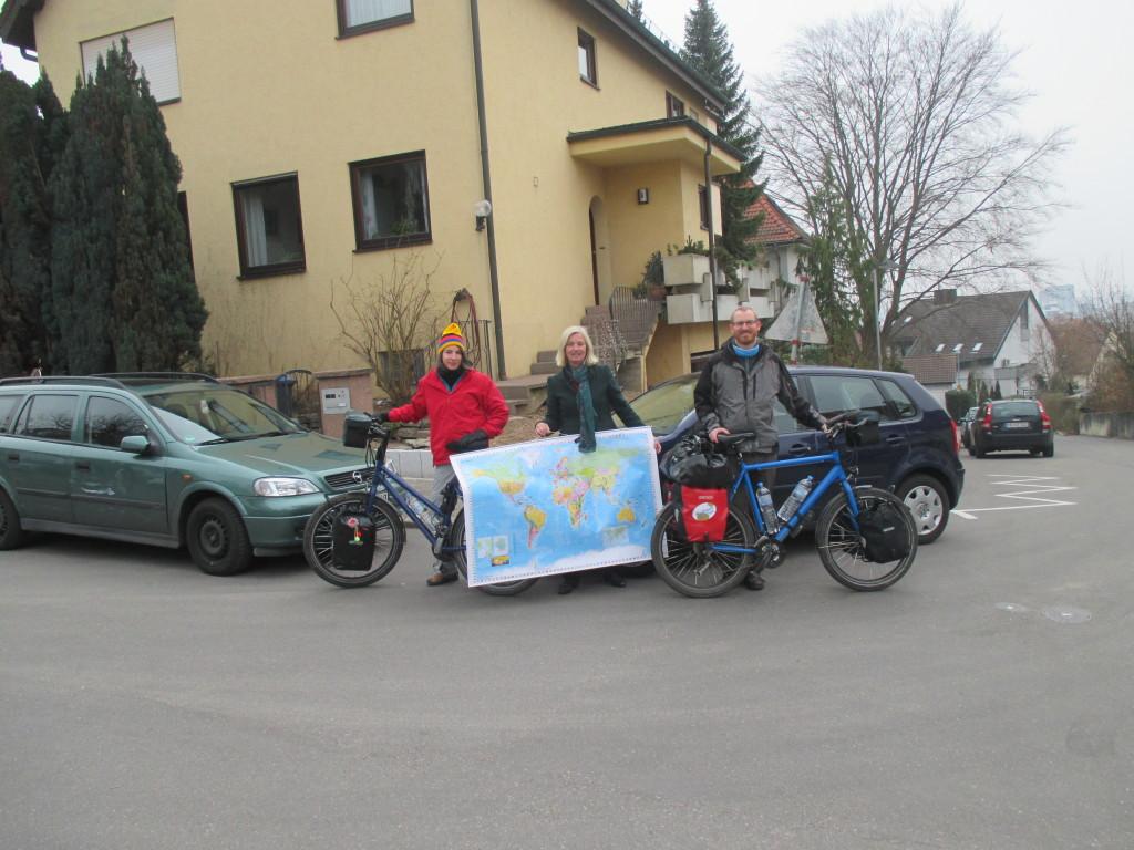 Visiting Wolfgang's mom in Heilbronn.
