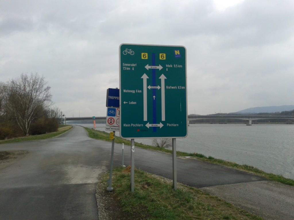 "Sign on EuroVelo ""Highway"" 6"