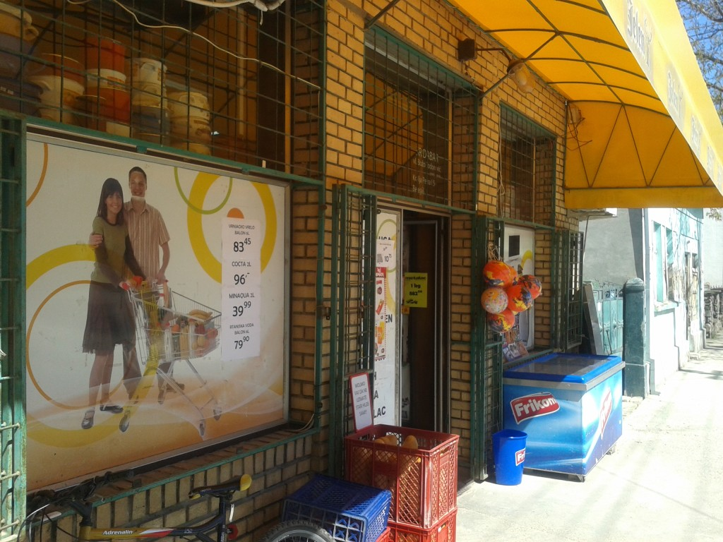 Corner shop in northern Serbia.