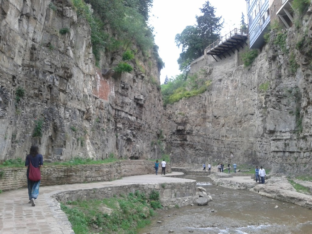 Canyon in the center of Tbilisi