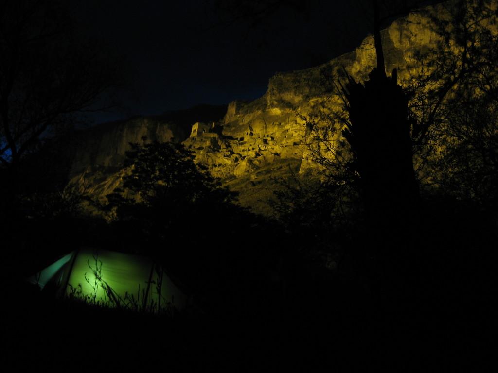 Camping just meters away from Vardzia
