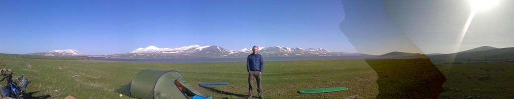 Camping at Lake Paravani