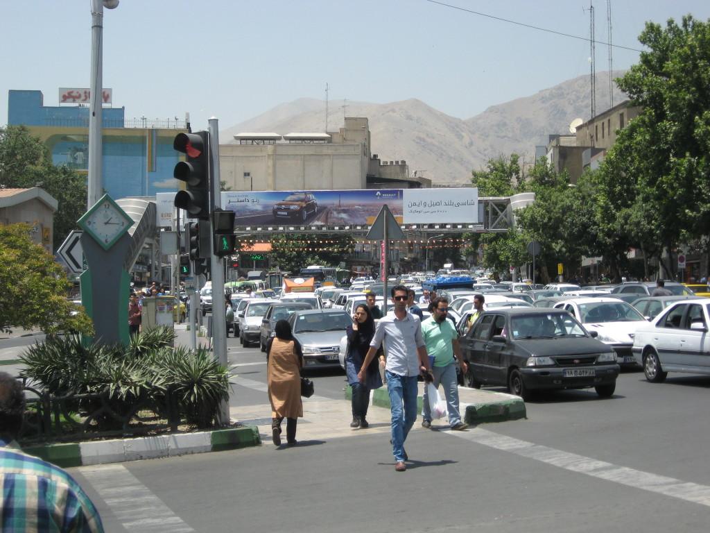Somewhere in Tehran. Traffic volume is enormous.