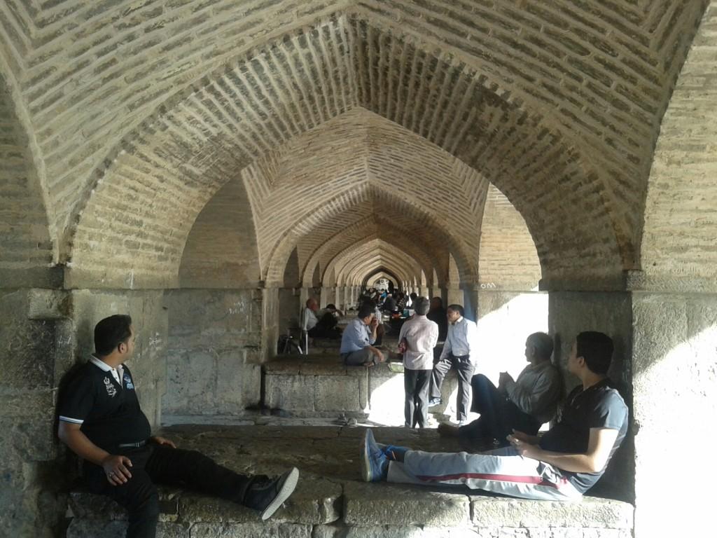 Below a bridge in Isfahan