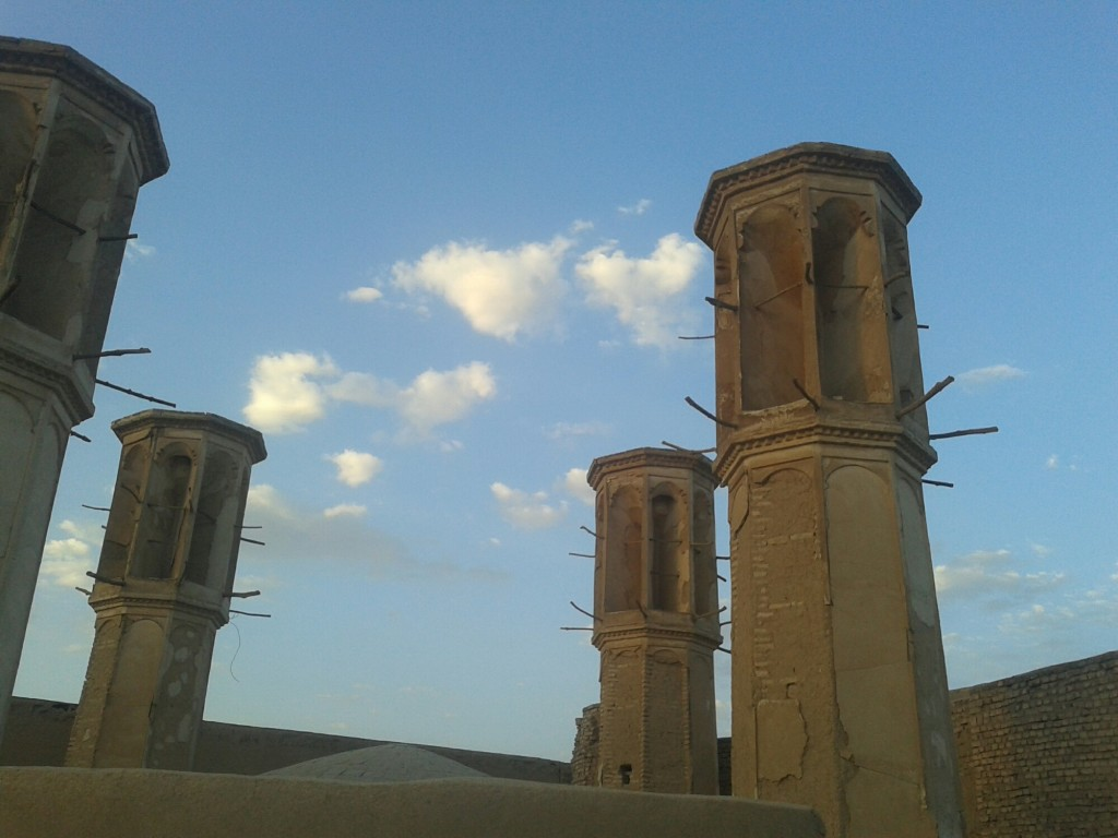 Wind towers. Ancient air conditioning.