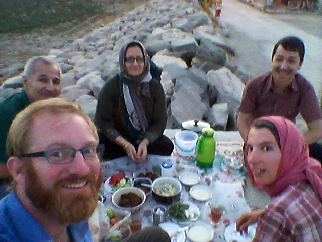 Picknick with a family in Bandar e Torkman