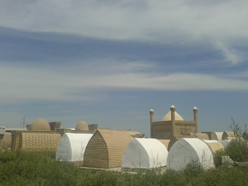 Cementery close to the Uzbek border