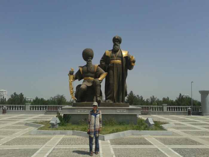At the independence monument