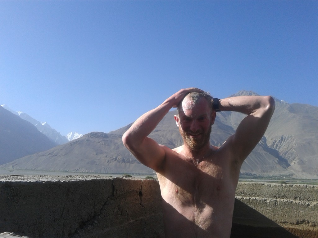 Taking a bath in a hot spring - That's not Putin, it's me.
