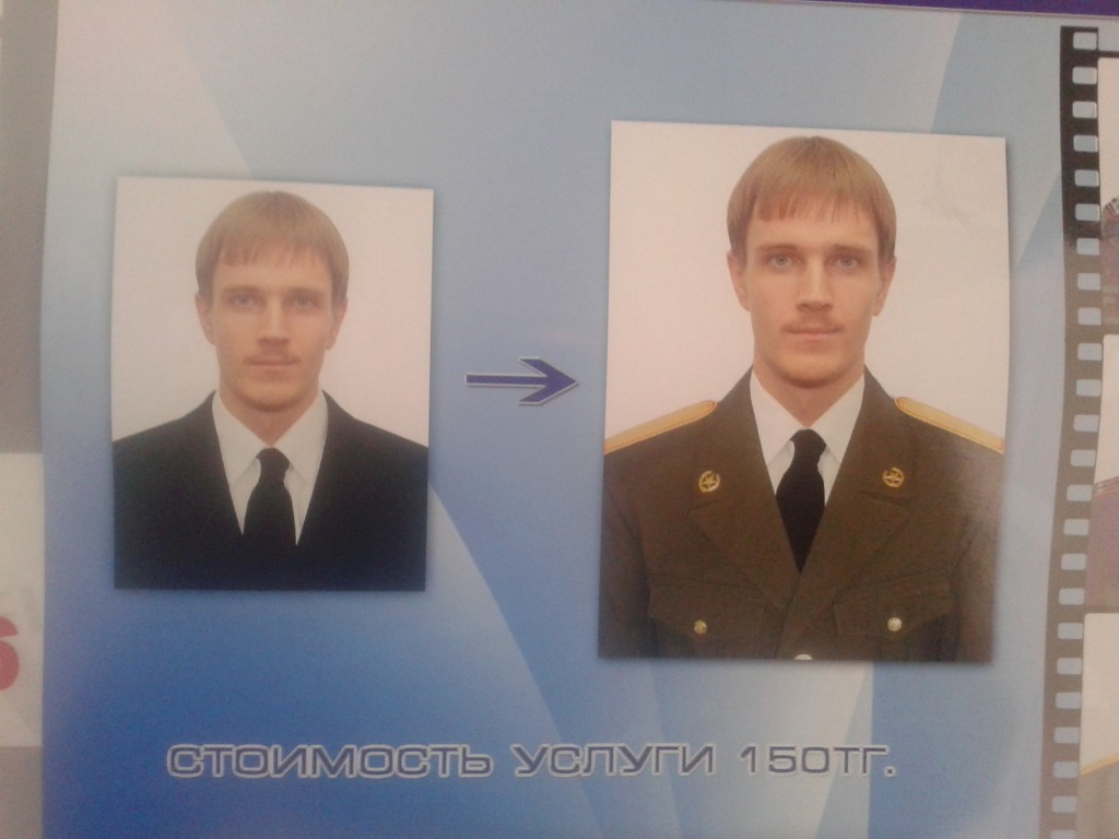 For 150 Tenge, everybody can become a dude