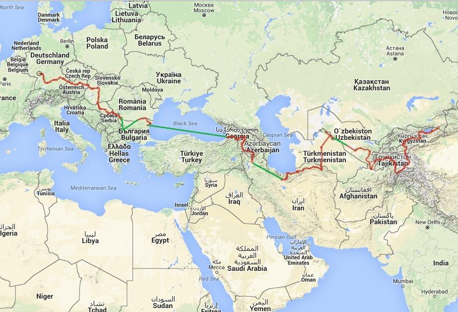 The route so far