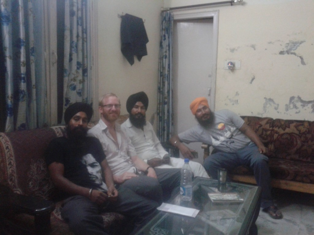Manjeet Singh (kitchen chef), me, another guy and Anel Singh,