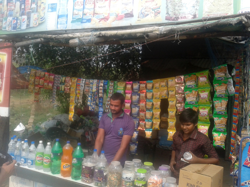 typical stall along the road