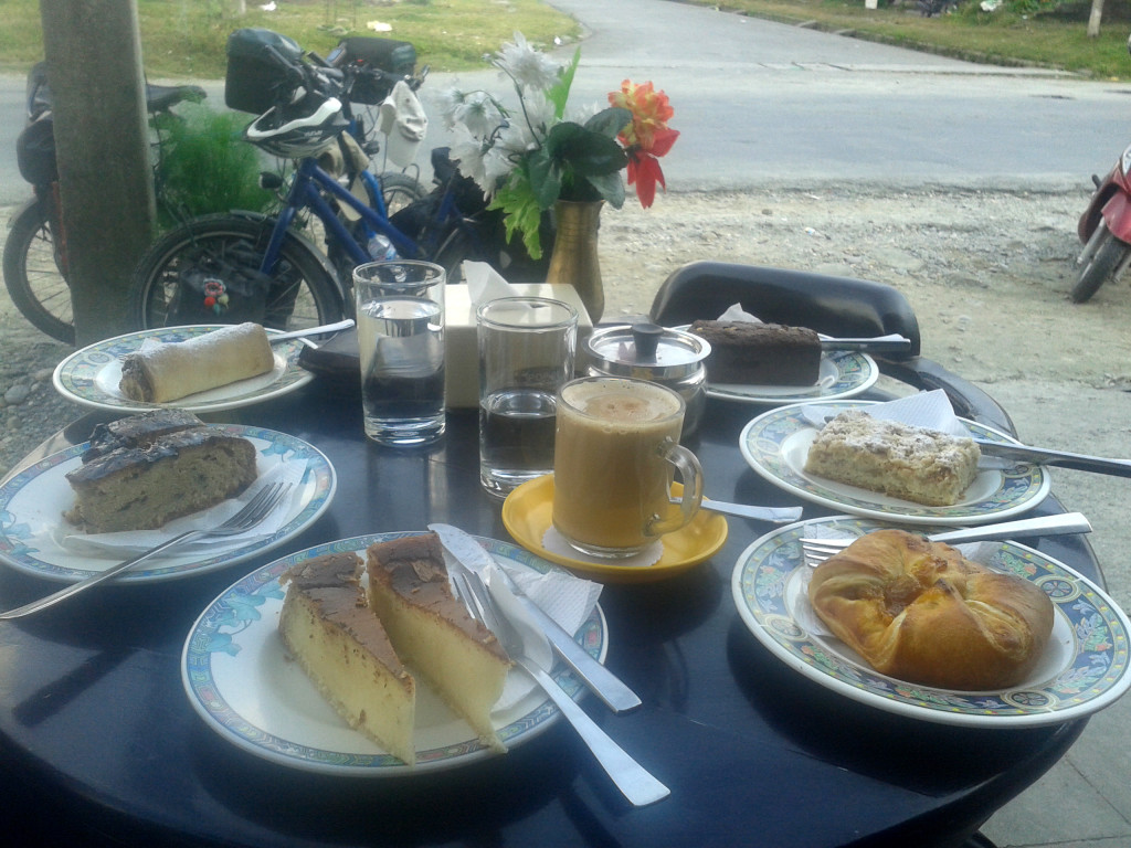 German bakery in Pokhara. All we have wished for.