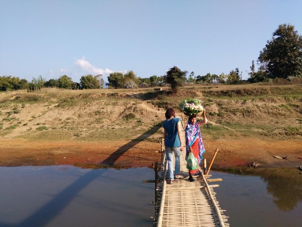 Bamboo bridge in Jiribam