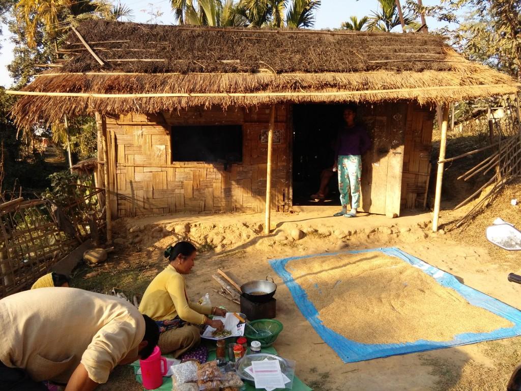 Bamboo hut in Jiribam