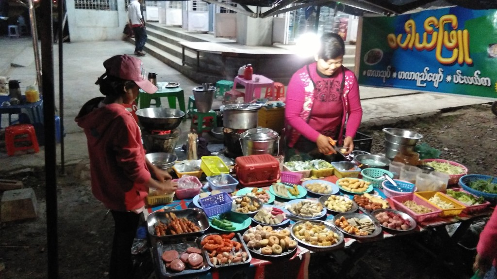 One of the street food stalls.