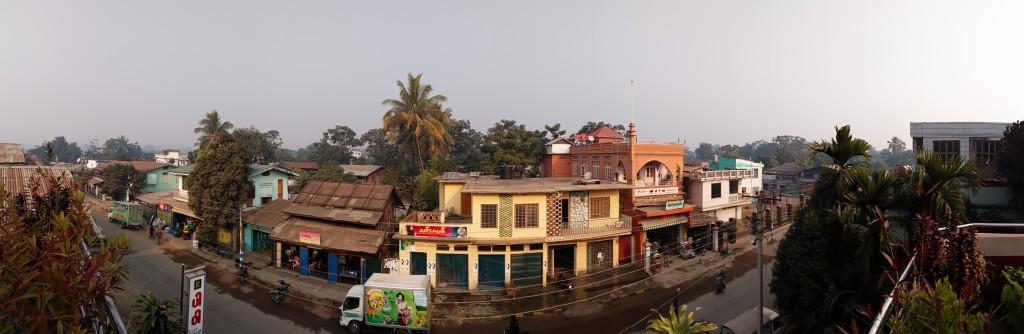 View from the big veranda of our hotel in Tamu