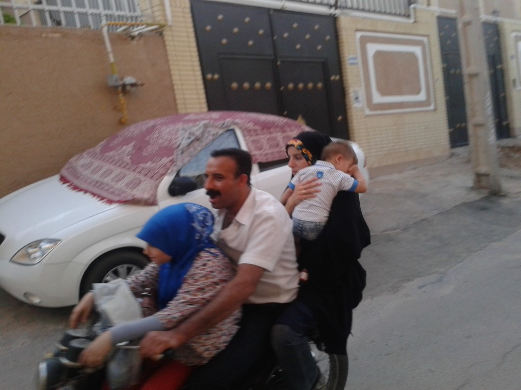 Iran - 5 and 6 people on a motorcycle are also possible