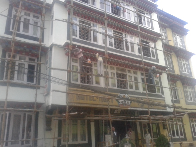 Gangtok, India - Bamboo scaffold