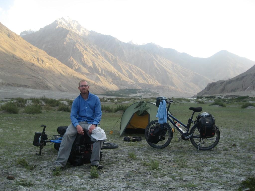 Tajikistan - Bicycles and tent