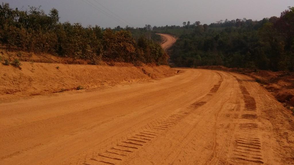 Dirt road in southern Laos