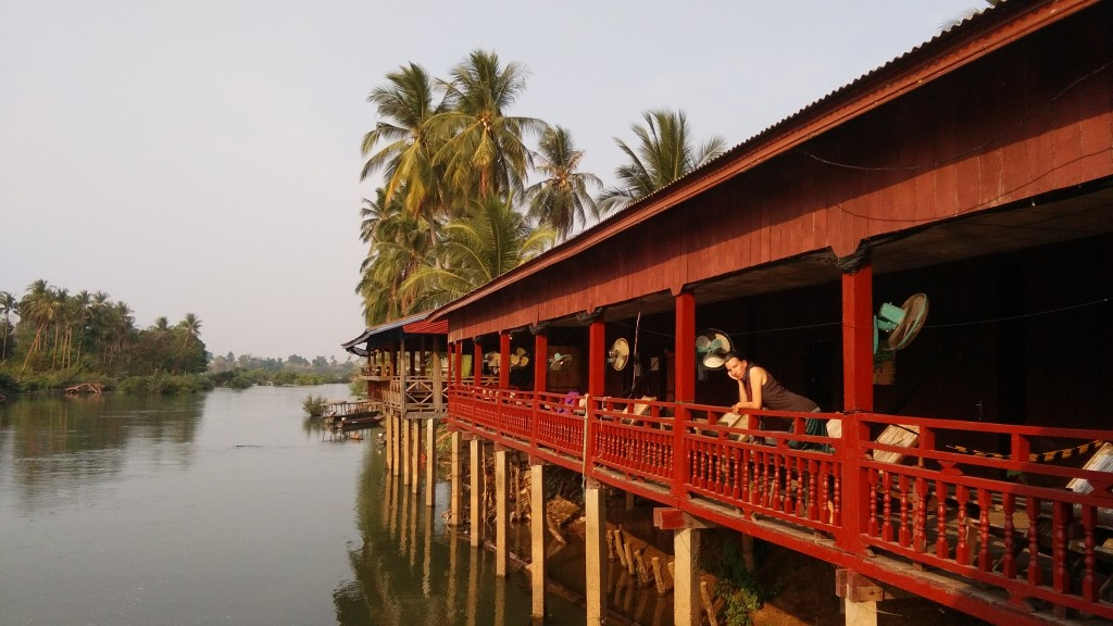 Don Khon, view over a small arm of Mekong river