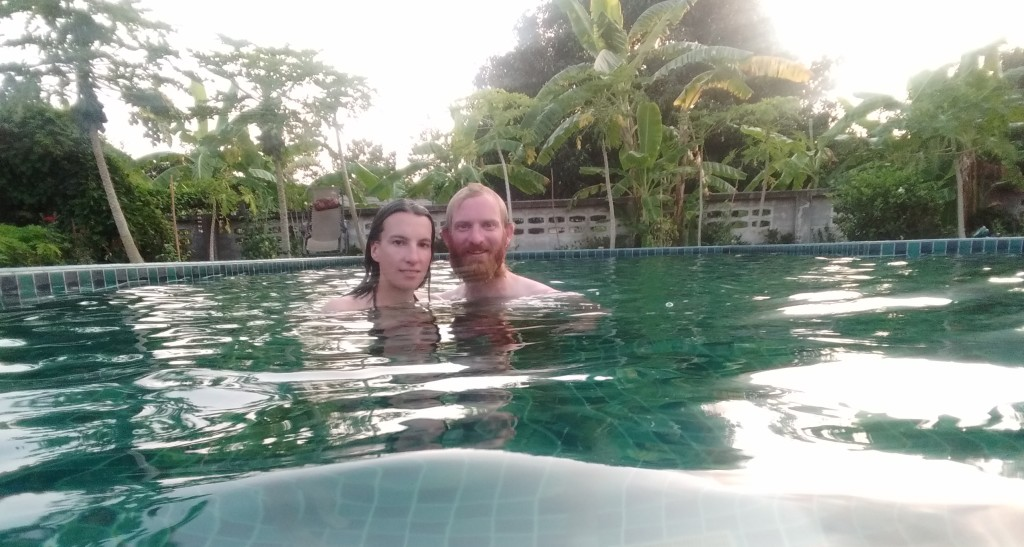 In Klaus' swimming pool
