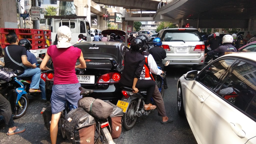 Cycling through Bangkok