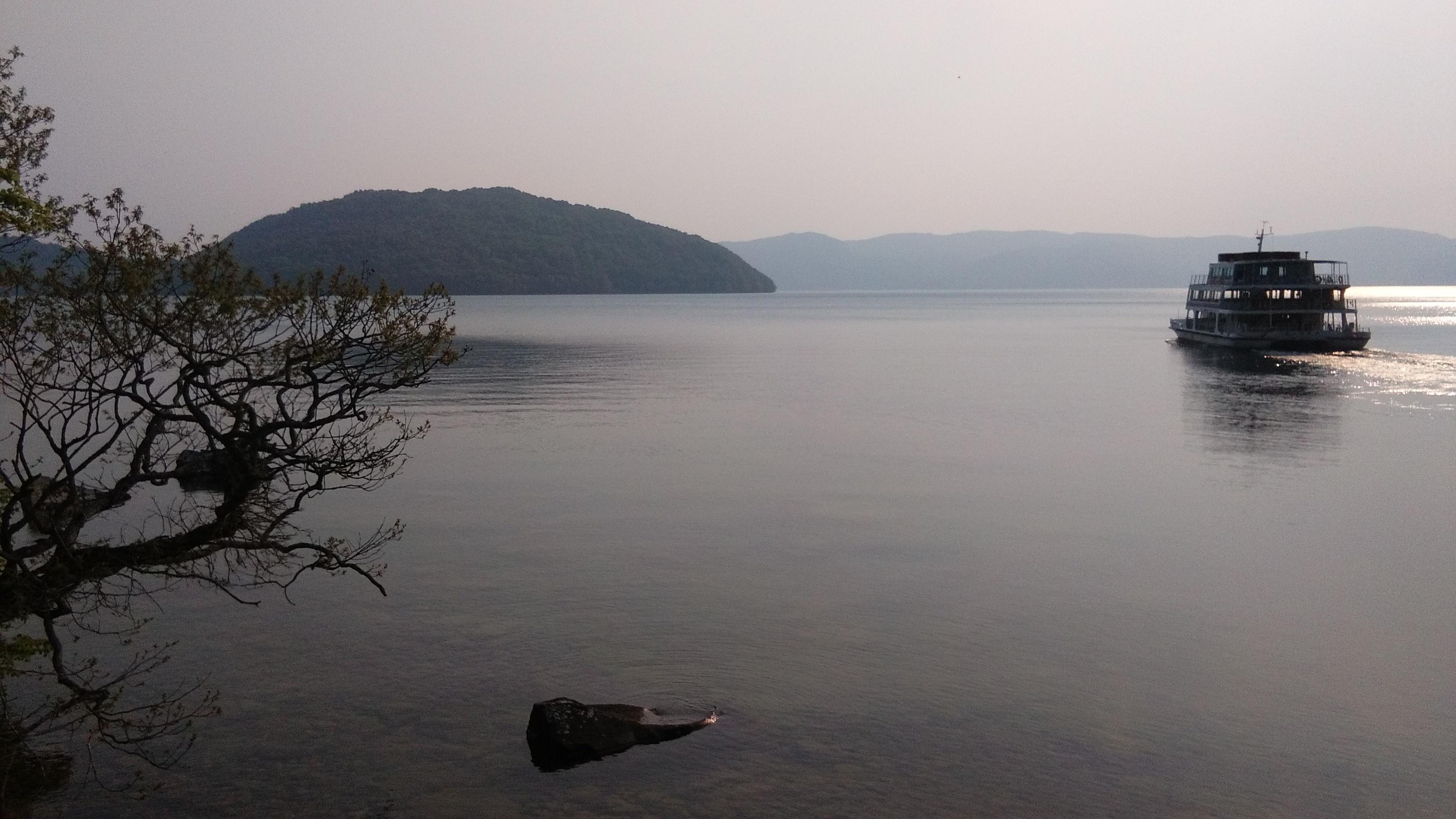 Ferry at lake Towada