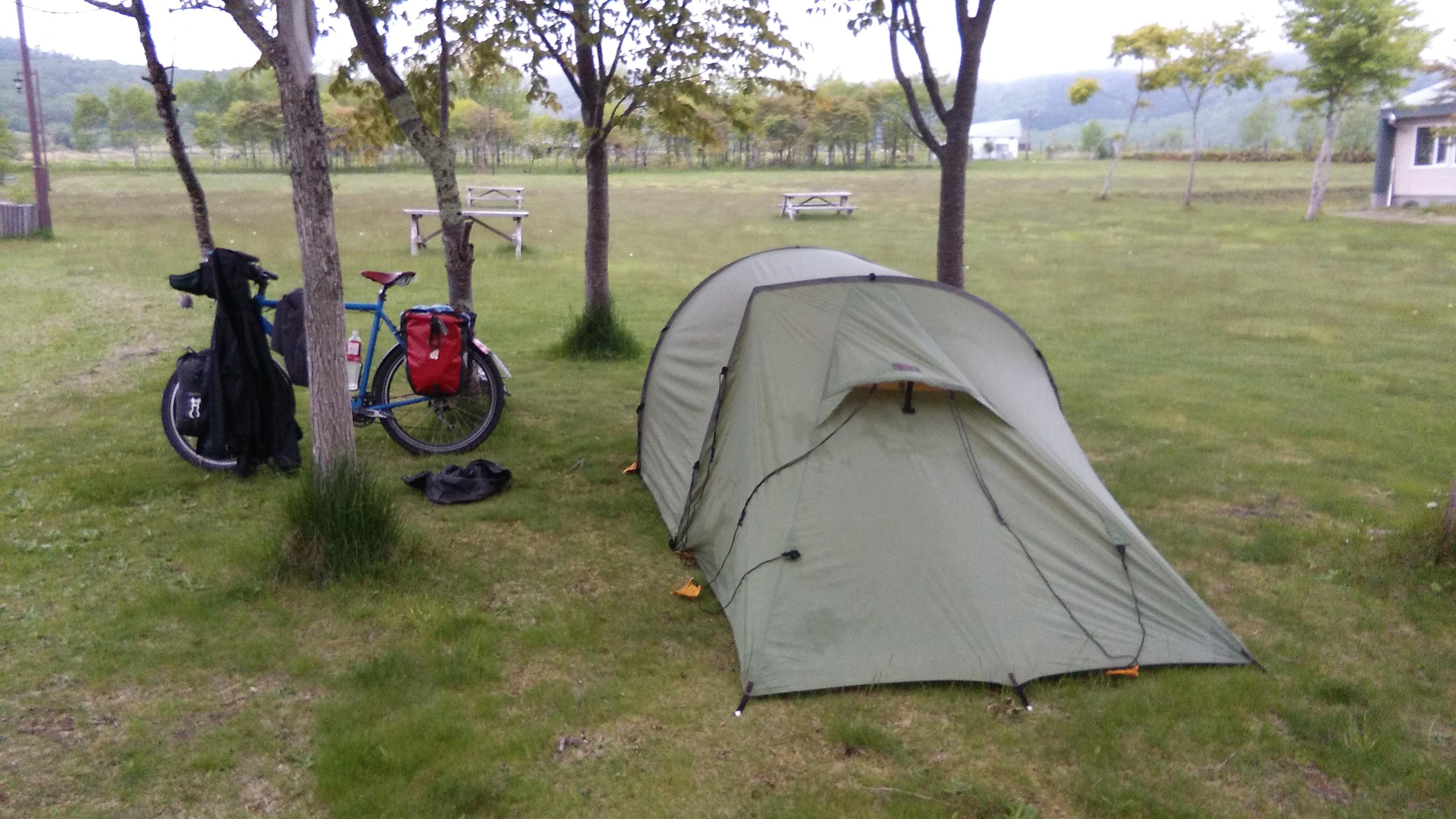 Broken tent pole