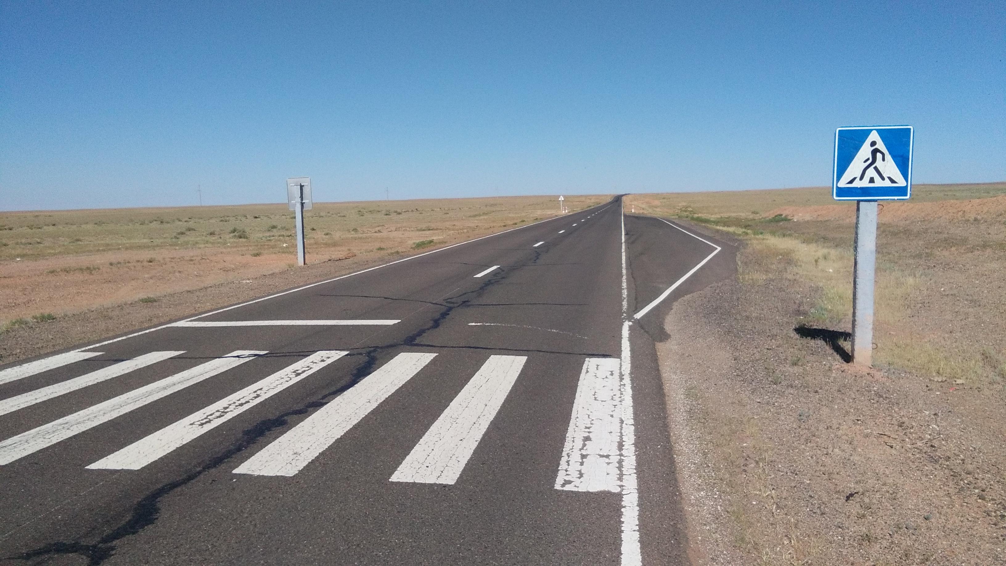 pedestrian crossing - Gobi desert
