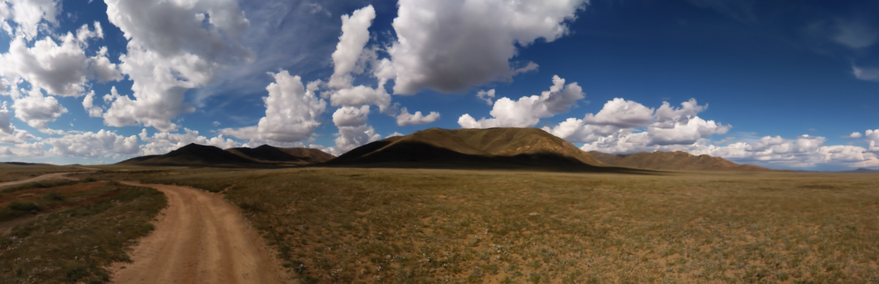 Dirt track in Mongolia