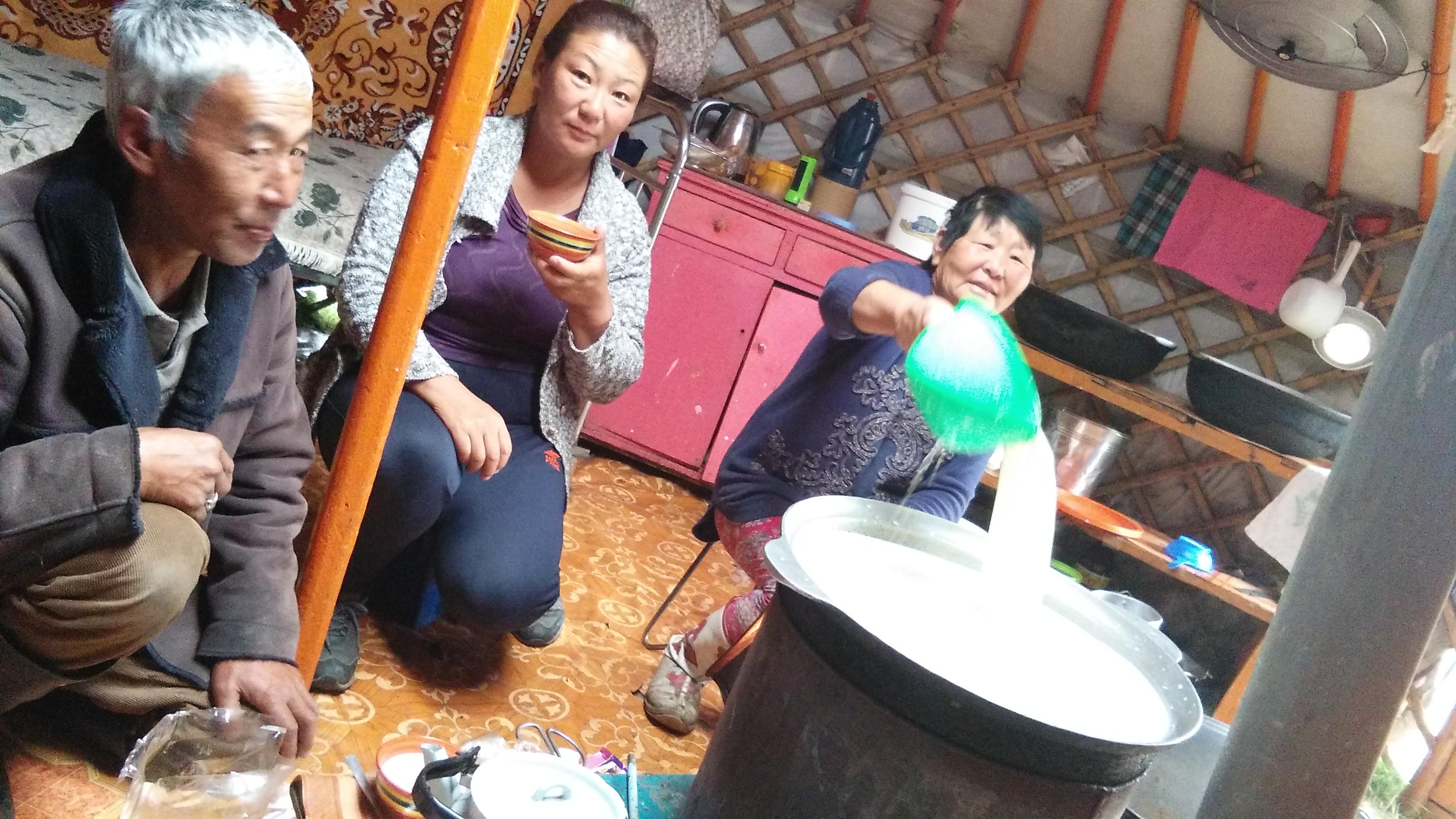 Breakfast yurt