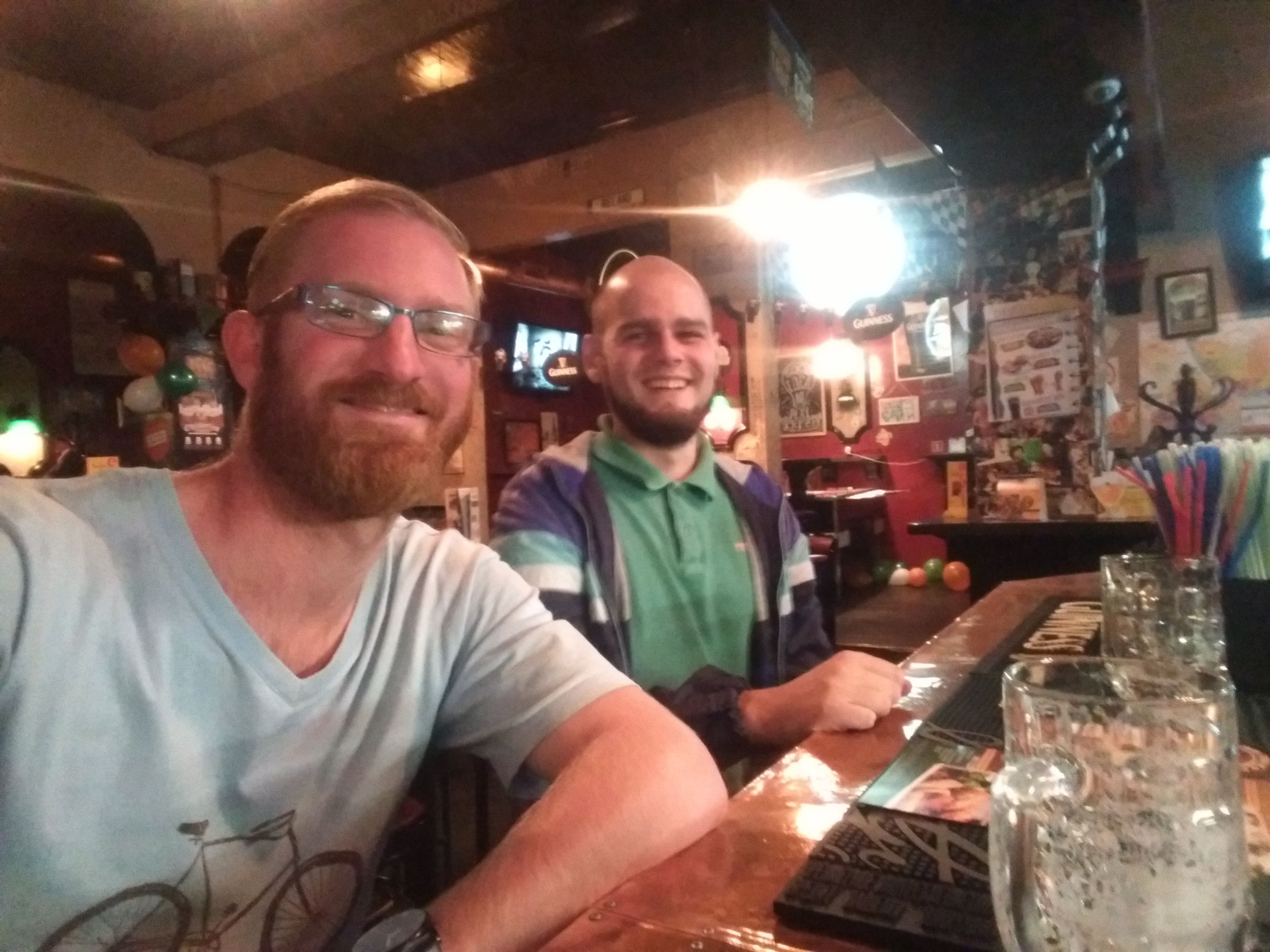In the pub with Tom