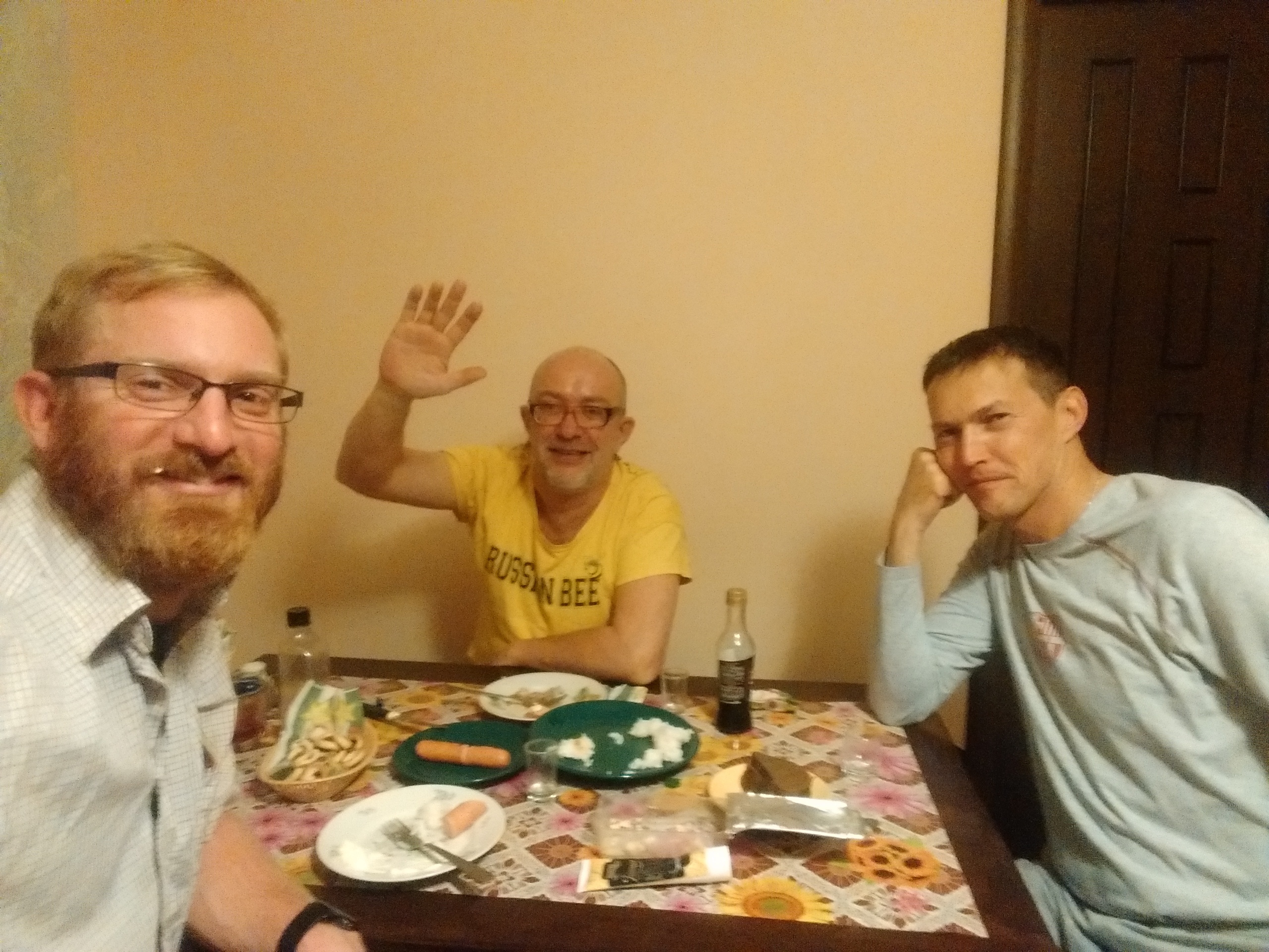 Drinking Vodka with Anatoli and Andrey - Kaluga, Russia