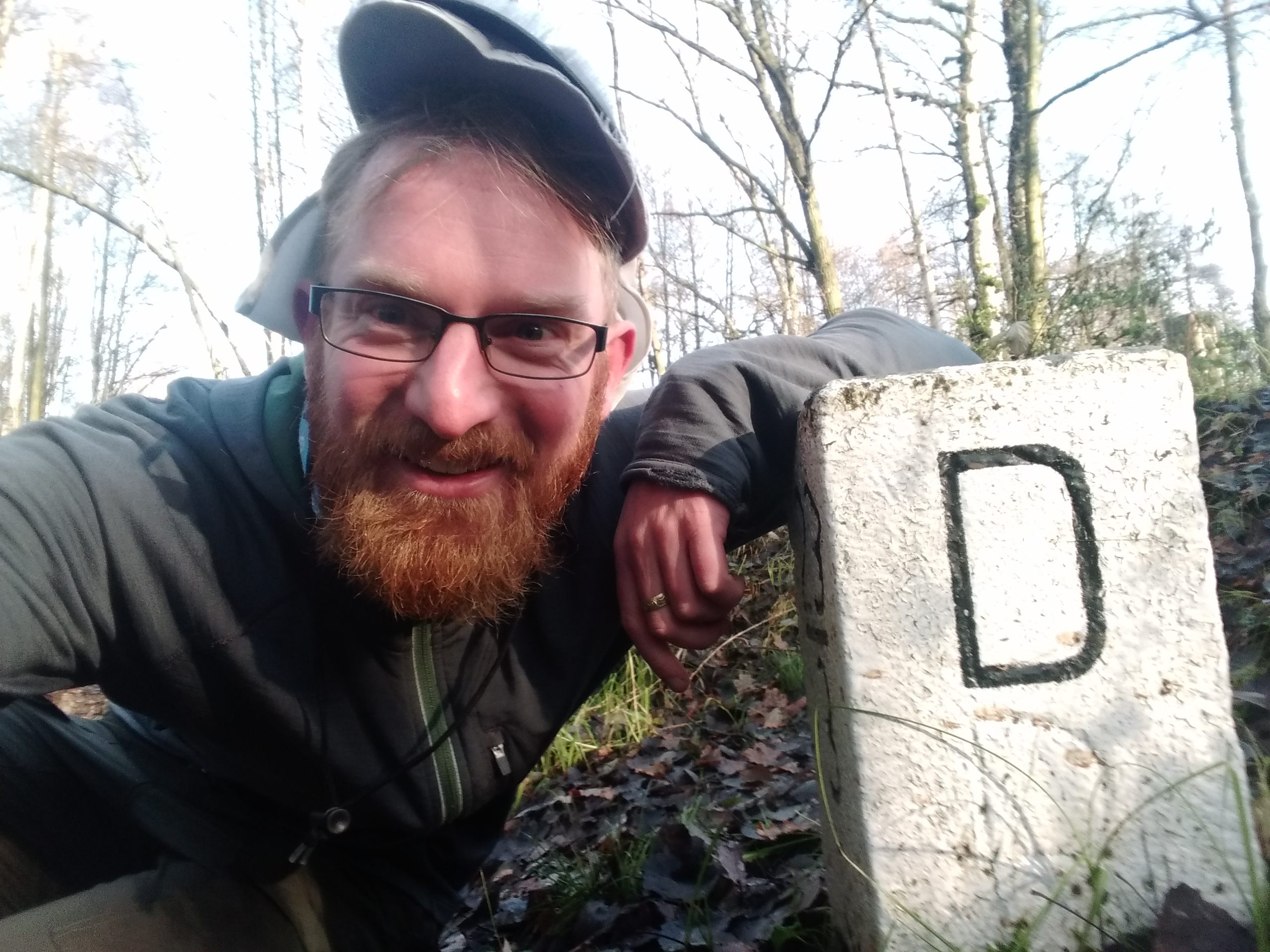 D for Deutschland - Border stone at the CZ-D border.