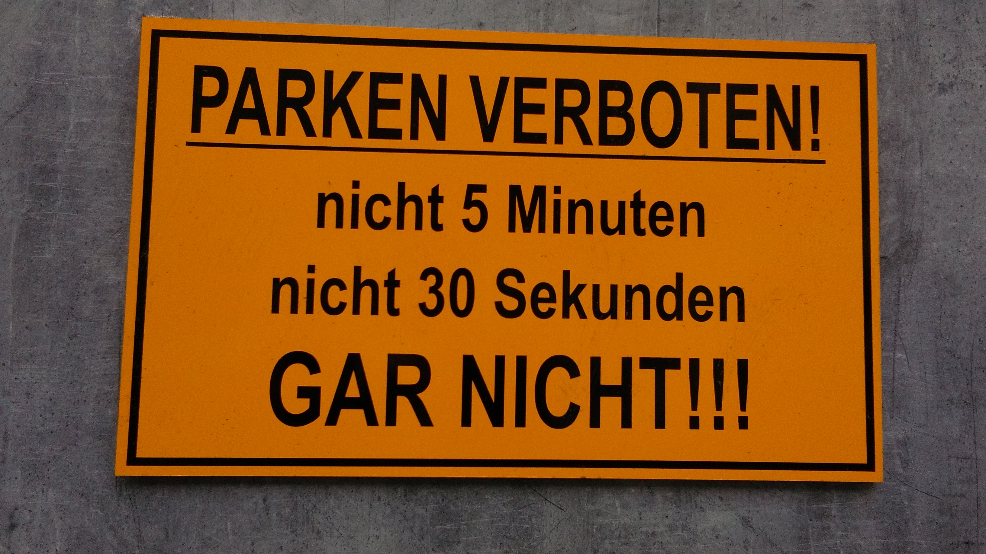 Parking Prohibited. Not 5 Minutes. Not 30 Seconds. NOT AT ALL!!!