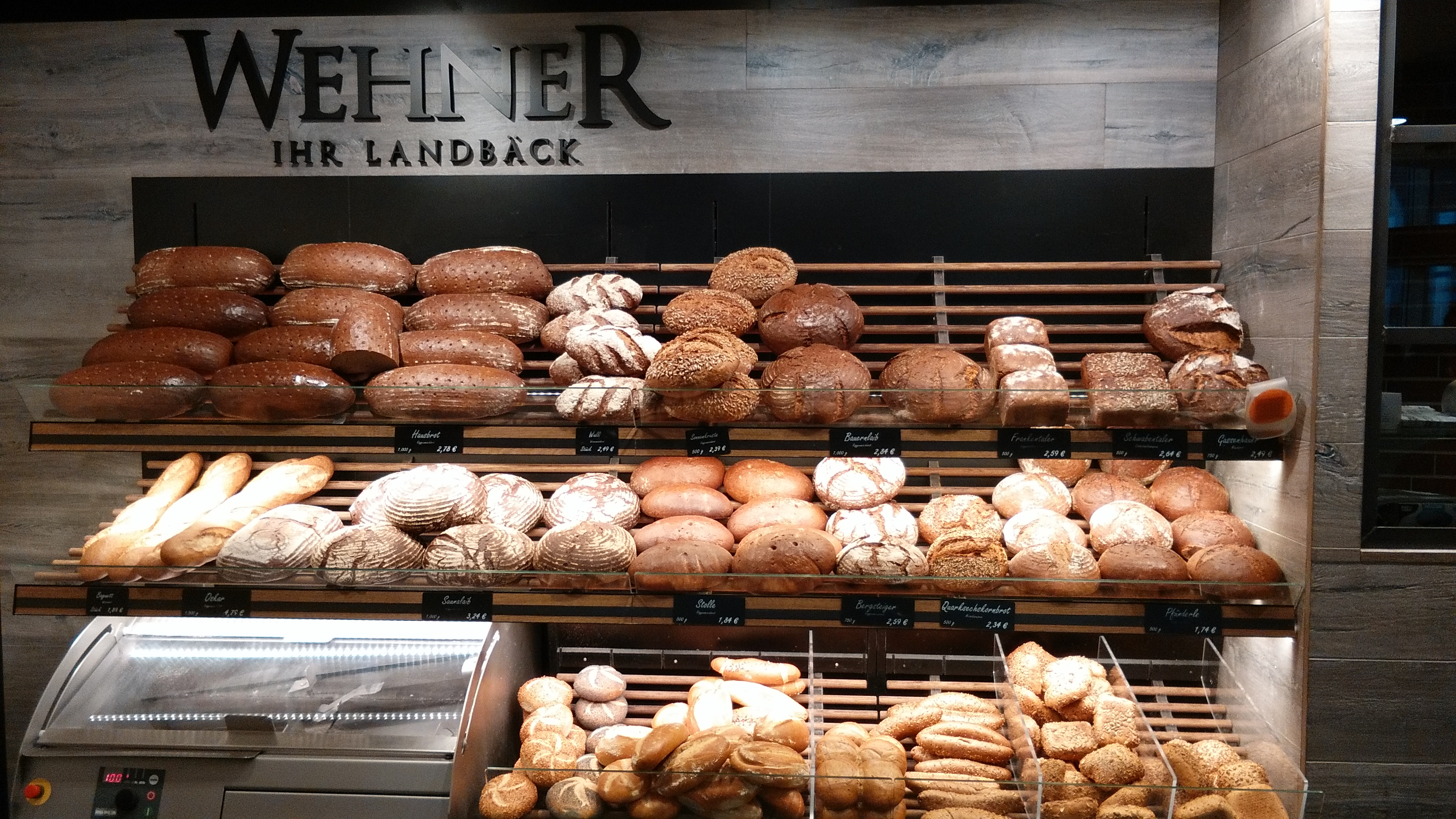 German Bakery in Schweinfurt - Bread. Bread everywhere.